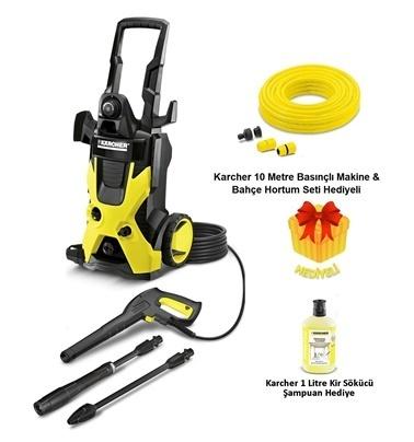Karcher K5 K 5 EU Basınçlı Yıkama Makinesi Hortum-Güneşlik Hediye Renkli